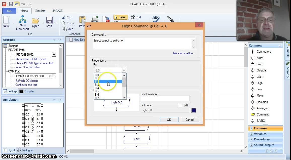 PICAXE Editor Traffic LIght a PICAXE Flowchart Program ...