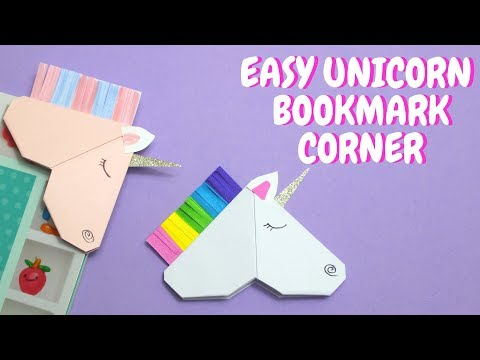 Easy Unicorn Bookmark Corner | Paper Crafts for Kids💖