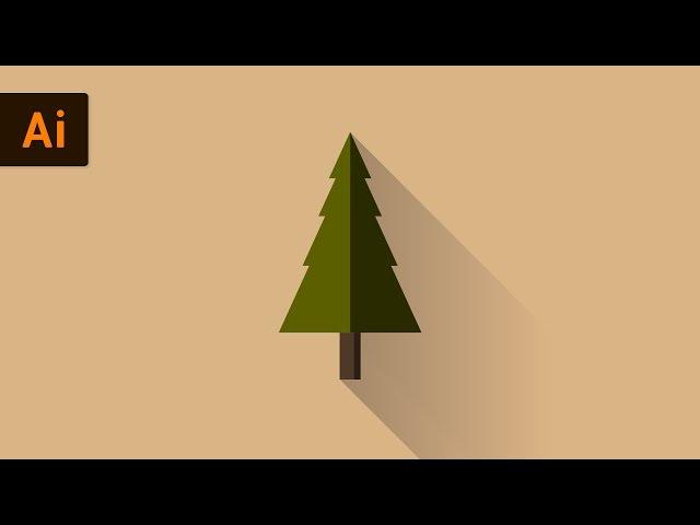 Flat Design Vector Tree | Illustrator Tutorial