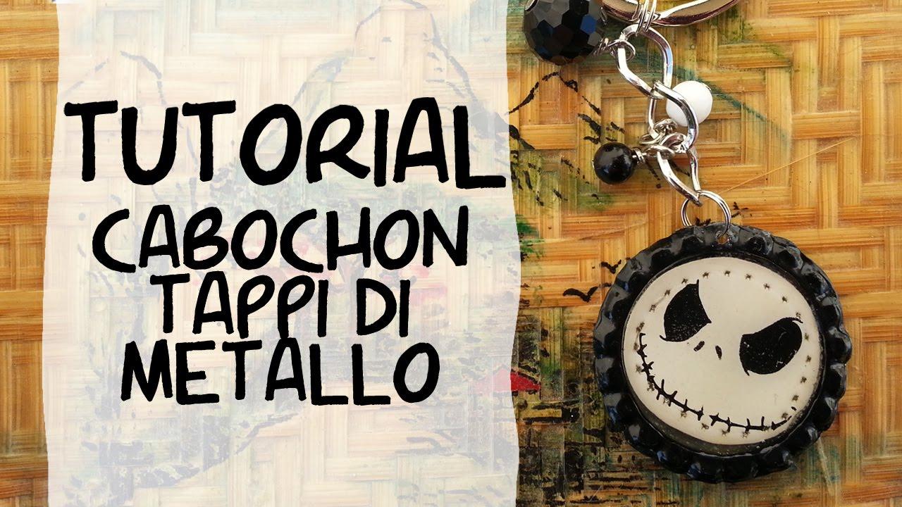 Cabochon con i tappi di metallo tutorial youtube for Tappi per orecchie per musicisti