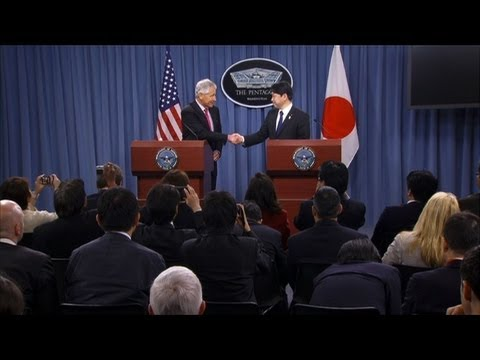 Hagel, Japan's Onodera, meet on N. Korea, Senkaku