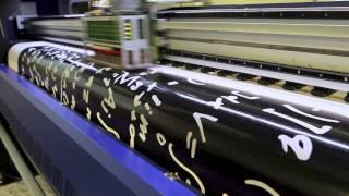 видео печать на баннере широкоформатная печать
