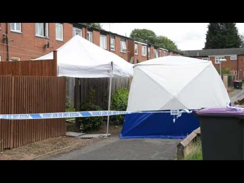 Forensics and police cordon at Telford estate