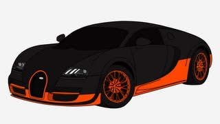 HOW TO DRAW - Bugatti Veyron Supersport - Step by Step
