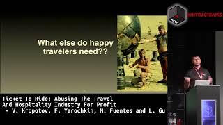 #HITB2018AMS D1T1 - Abusing The Travel Industry - V. Kropotov, F. Yarochkin, M. Fuentes & L. Gu