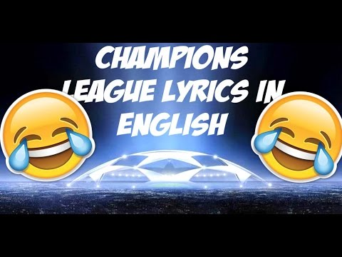 Champions League lyrics in english