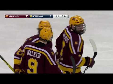 Gopher Hockey - Blake McLaughlin Game-Winning Goal At Notre Dame