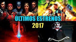 ULTIMOS ESTRENOS DE PELICULAS NOVIEMBRE DICIEMBRE 2017 | PELICULAS MAS ESPERADAS | TRAILER