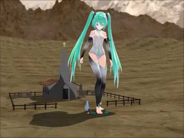 MMD Giantess - There is always a bigger Miku #1