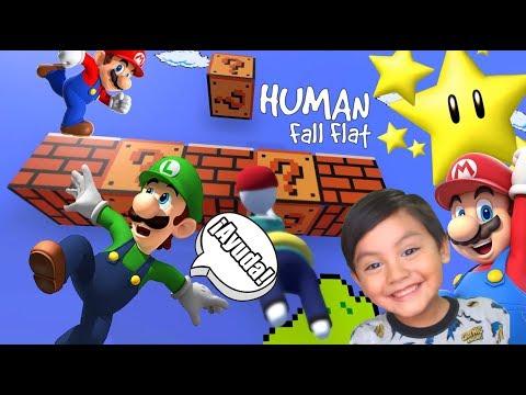 Karim En Problemas | Caida Libre Con Super Mario Y Luigi | Juegos Karim Juega