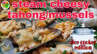 How to make steam cheesy mussels/tahong    Mussels Recipe  
