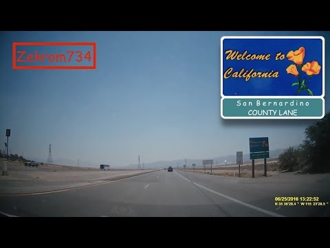 Driving from Las Vegas, NV to the California-Nevada State Line