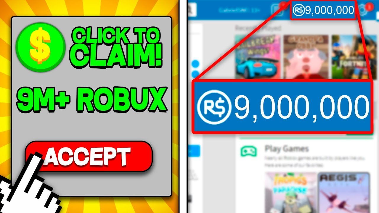 How To Get 10 Million Robux Free 2018 Free Robux Simulator In Roblox Easy Million Robux Youtube