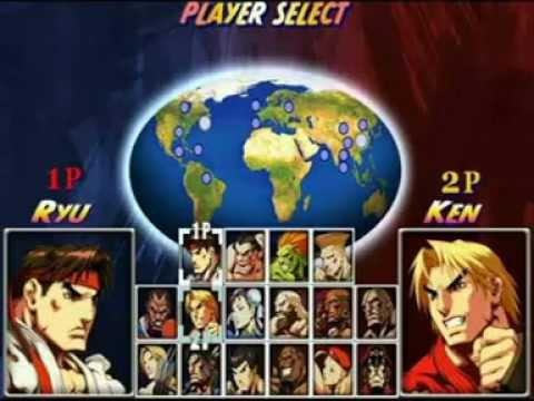 Street Fighter All Player Select Ost Youtube