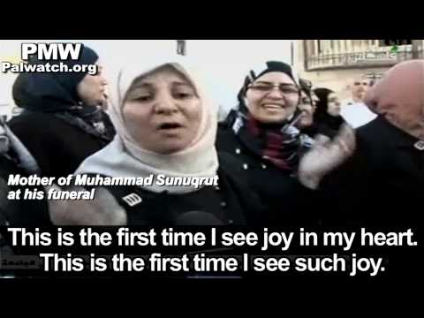 "Palestinian mother celebrates her son's death:‎ ‎""This is the first time I see joy in my heart""‎"
