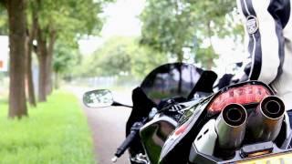Honda CBR 600 RR   Laser exhaust   engine sound only!