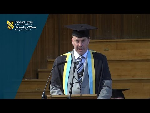 Edward Thomas is awarded an Honorary Fellowship from UWTSD Swansea