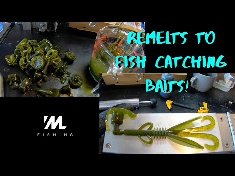 Making Soft Plastic Baits - DON'T Throw Away Old Plastic!!! Remelt Plastics To Make NEW LURES