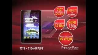 "Tablet Powerfast - 7.0"" Capacitivo, Saída HDMI, Processador 1.2Ghz, Android 4.0 -  TCTB 7104HD Plus"
