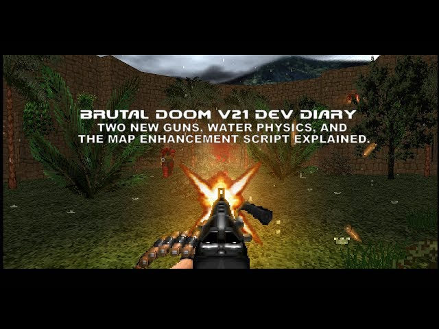 Brutal Doom v21 Dev Diary - Two new guns, water physics, and the Map