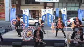 ★因州傘舞維新曾怒涛玉さん  青い鳥コンサート2018 鳥取駅前バードハット