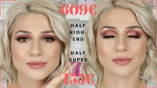 HALF HIGH-END / HALF DUPE MAKEUP || GIO DREVELI ||