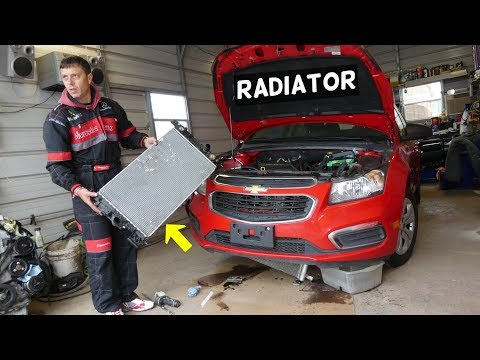 CHEVROLET CRUZE RADIATOR REPLACEMENT REMOVAL. CHEVY SONIC RADIATOR
