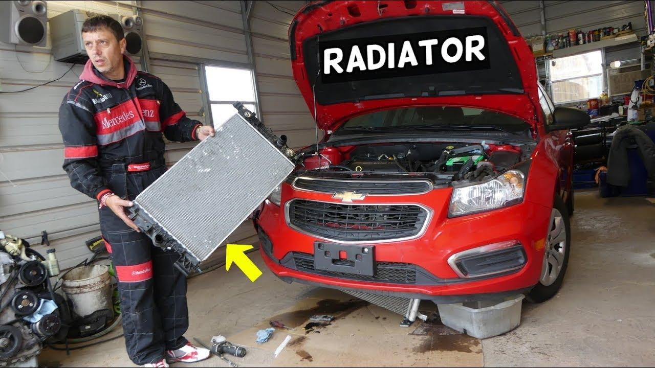 CHEVROLET CRUZE RADIATOR REPLACEMENT REMOVAL  CHEVY SONIC RADIATOR