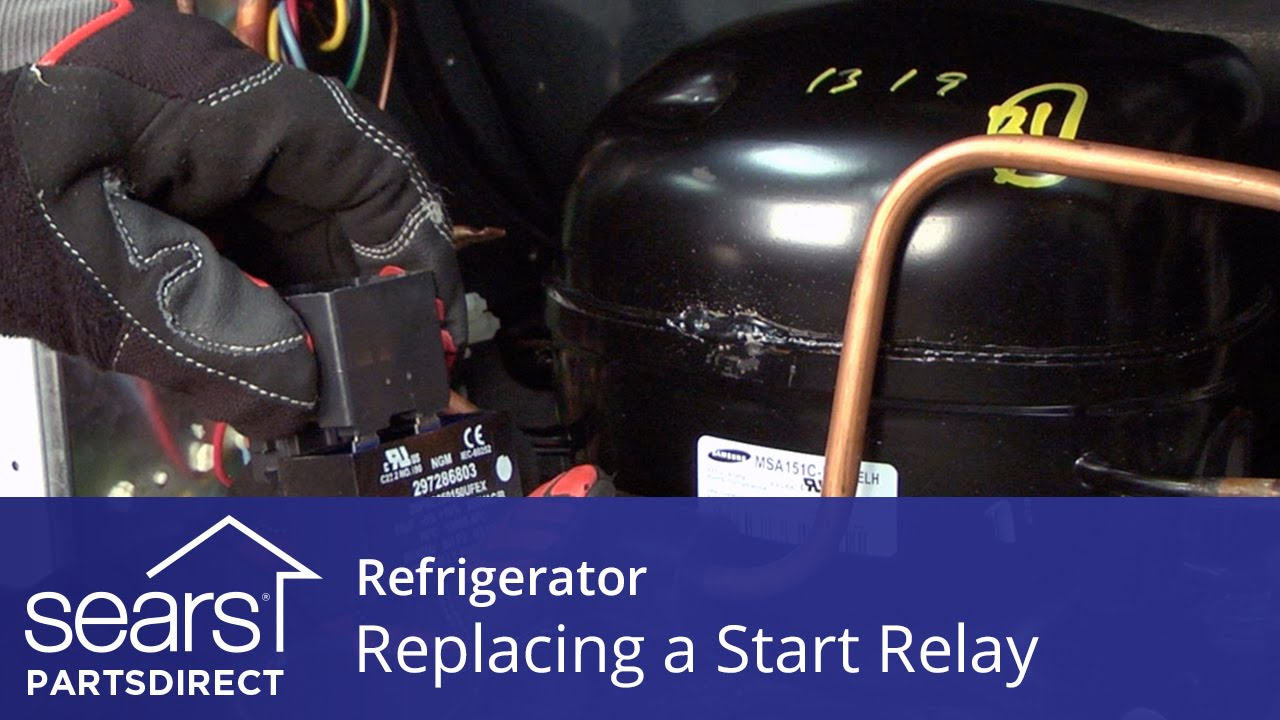 how to replace a refrigerator compressor start relay youtube. Black Bedroom Furniture Sets. Home Design Ideas