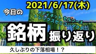 【相場振り返りシリーズ#204】2021年6月17日(木)~久しぶりの下落相場!?~