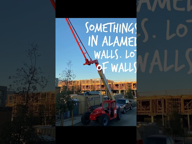 Wall panel jobs from Pacific Wall Systems, Inc-a montage