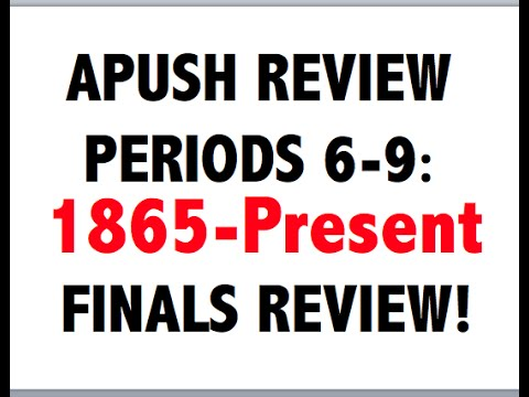 APUSH Final Exam Study Guide Flashcards | Quizlet