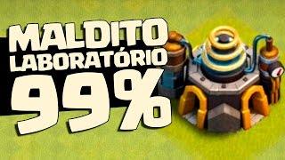 MAIOR FAIL 99% do Clash of Clans | MALDITO LABORATÓRIO !!