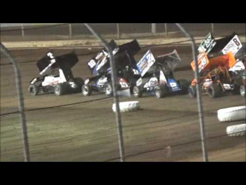 AJ Flick 410 Sprint Sharon Speedway July 8, 2017 ASCoC Lou Blaney Memorial