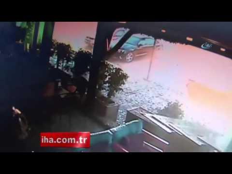 Adana'da bomba patlama anı