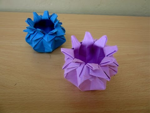 How To Make A Paper 16 Point Star Vase Easy Tutorials