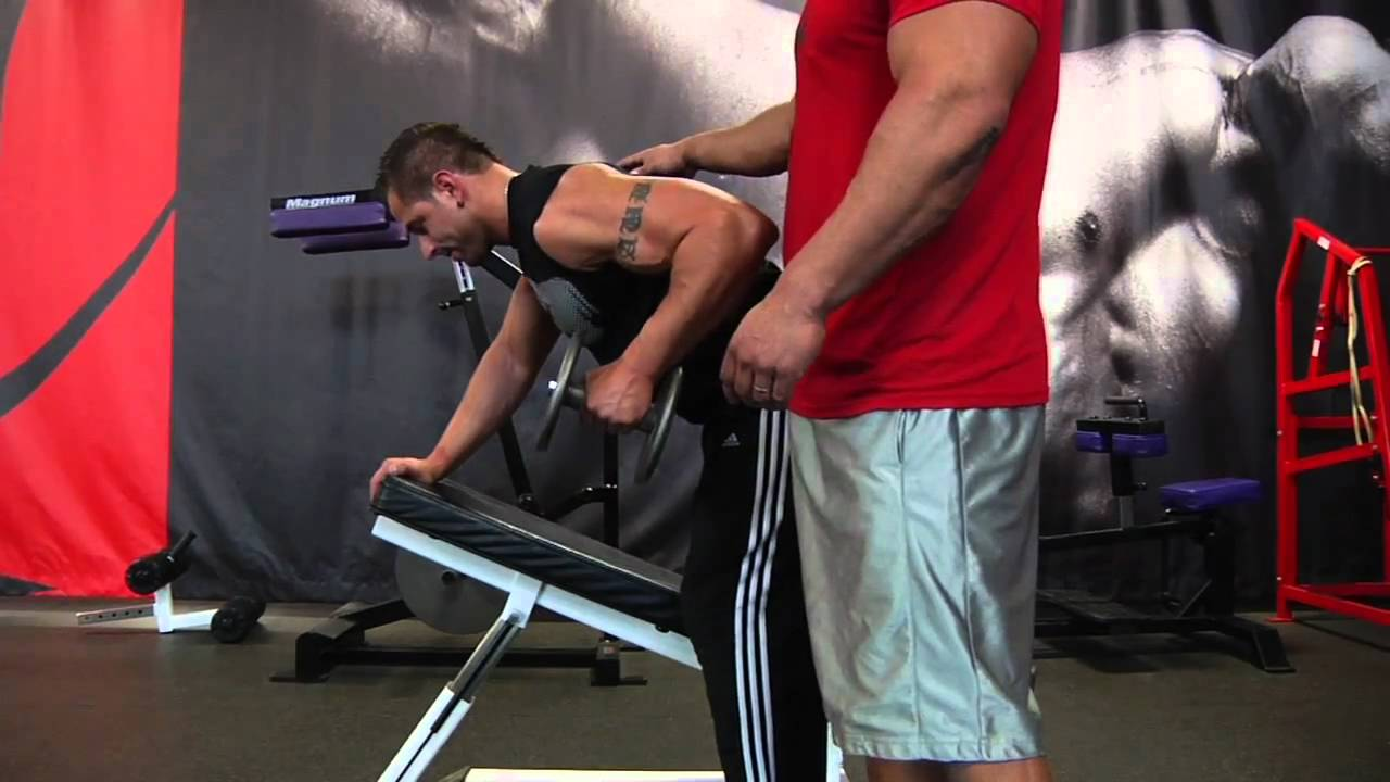 Incline One-Arm Dumbbell Row - YouTube