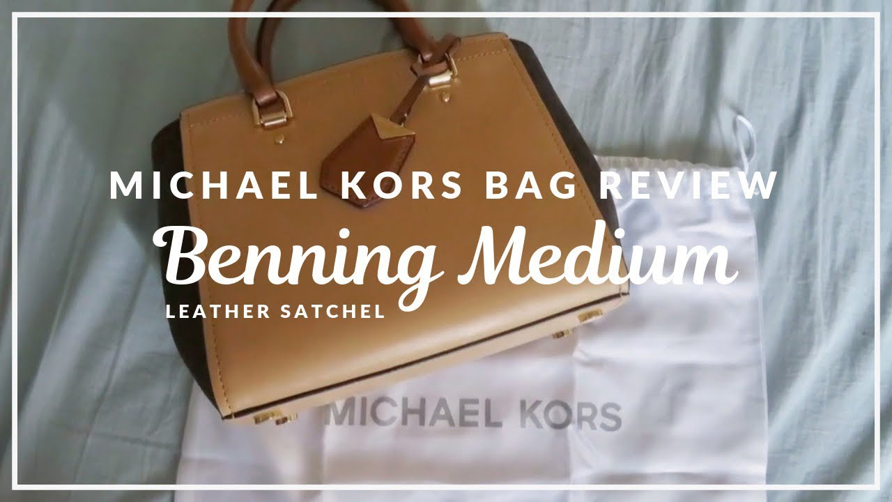 bf8a38140ccc Bag Review  Michael Kors Benning medium - YouTube