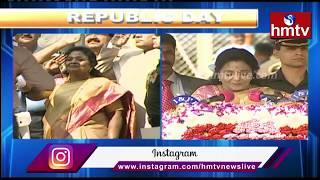 Republic Day 2020 Celebrations in Raj Bhavan || జాతీయ జెండాను ఆవిష్కరించిన సీఎం కేసీఆర్ | hmtv