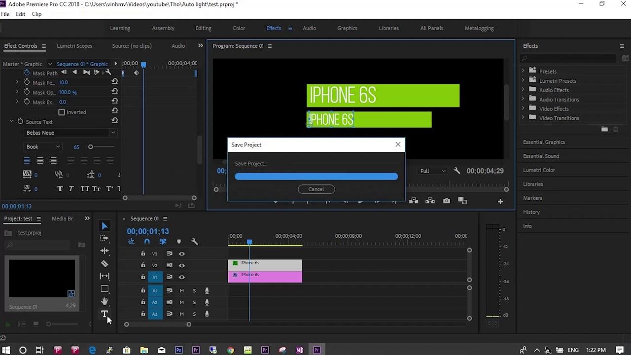 Hướng dẫn làm chú thích trong video với phần mềm adobe premiere