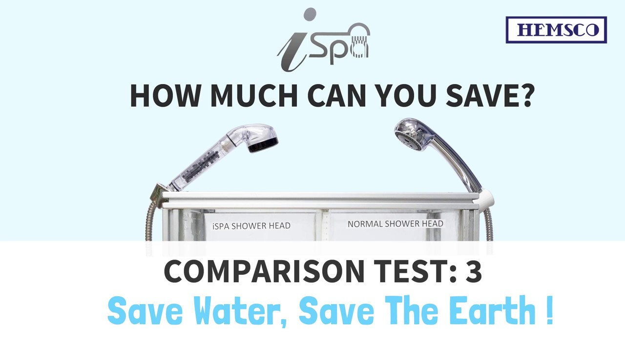 iSpa Showerhead Test Comparison 3 - YouTube