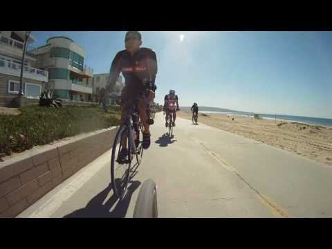 Cycling Manhattan Beach California - The Strand Bike Path - GoPro HD