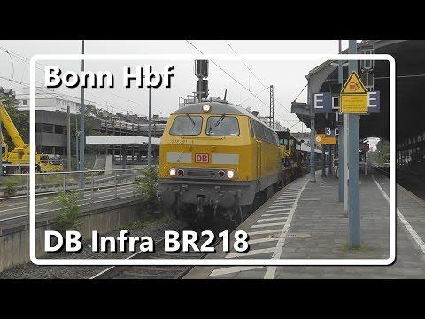 DB Infra BR218 komt door station Bonn Hbf!