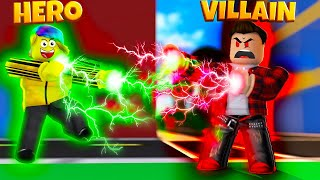 FIGHTING A SUPERVILLAIN WITH THE NEW HERO! (Roblox Mad City)