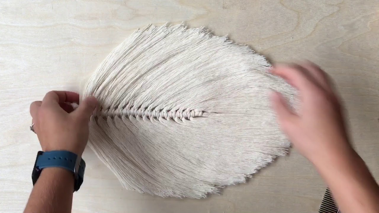 How To Make A Large Macrame Feather Leaf Youtube