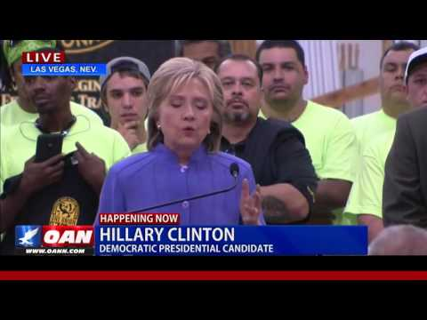 Hillary Clinton Speaks to Middle Class in 2016 Campaign Rally in Las Vegas