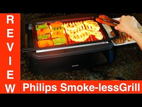 Philips Smoke-less Indoor Grill HD6371/94 Review Demo - YouTube