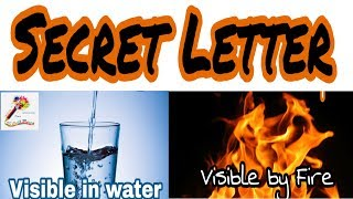 How to create invisible secret message - Easy way  Secret Letter - Decode by fire and water