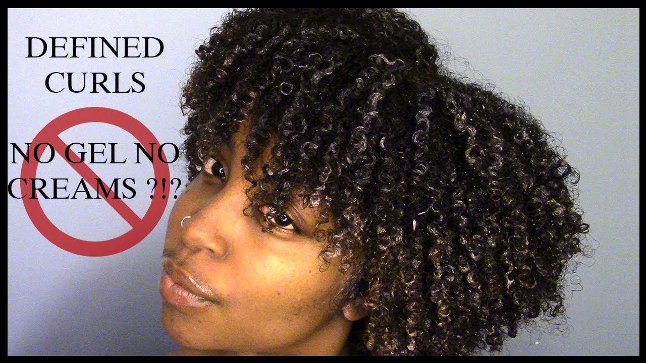 How I Define My Curls Without Gel Or Creams 4 Type Natural Hair Youtube