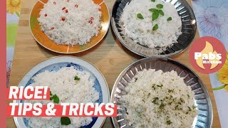 Basmati, Jasmine, Caroline, Parboiled Rice [ Tips & Tricks! 🌿 ] - Pabs Kitchen